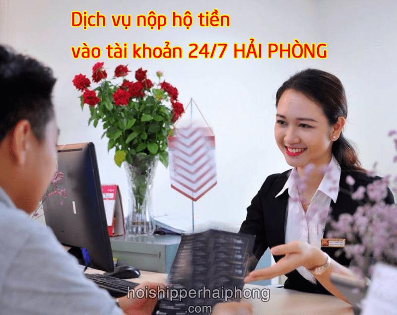 Nộp tiền ngoài giờ và chuyển tiền ngoài giờ huyện Kiến Thụy tới các ngân hàng