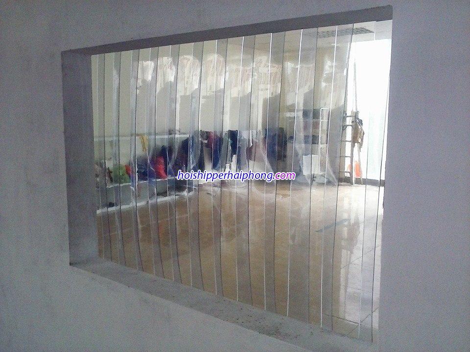 Rèm ngăn lạnh điều hòa bằng nhựa PVC tại Hải Phòng