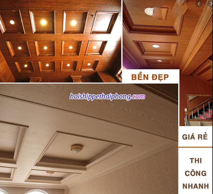 Tấm ốp trần PVC tại Hải Phòng giá tốt uy tín