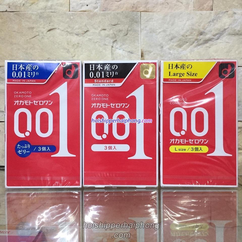 Bao cao su Okamoto 0.01 Hải Phòng