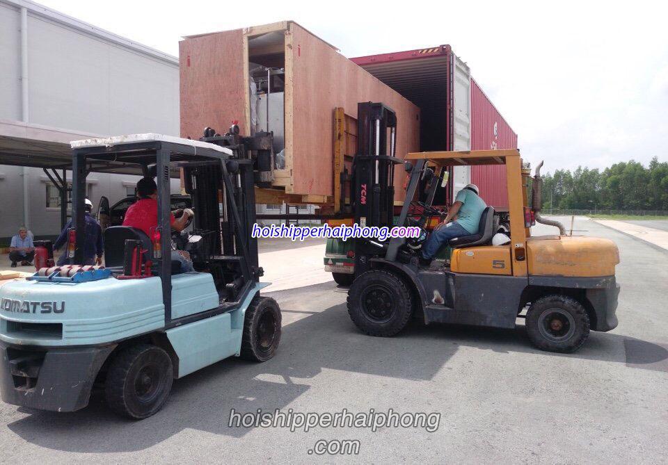 Thuê xe nâng hàng bằng dầu tại Hải Phòng