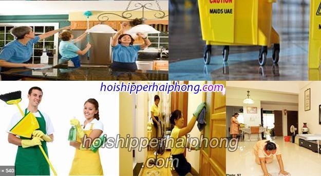 Dịch vụ dọn dẹp nhà cửa Hải Phòng theo giờ đa dạng